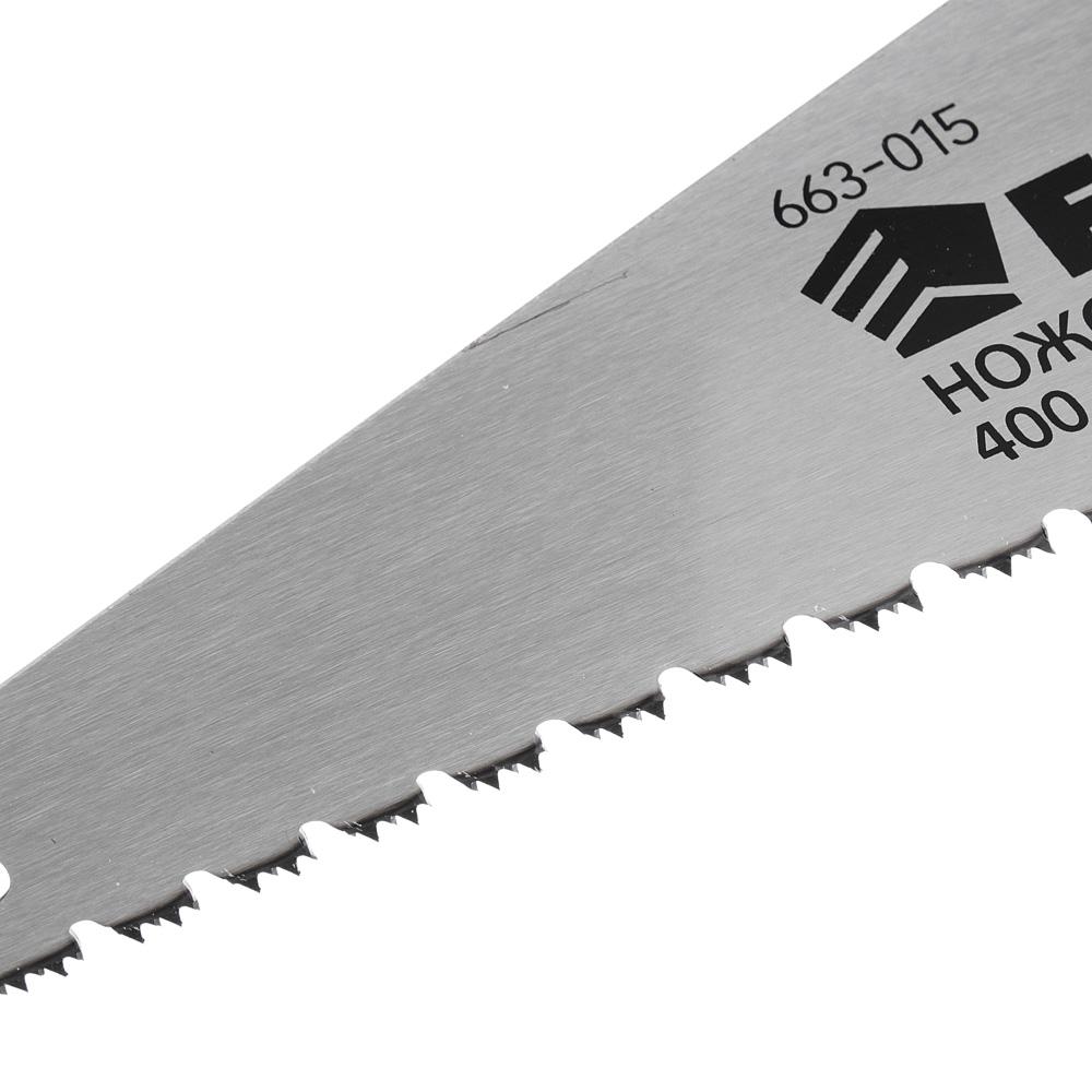 ЕРМАК Ножовка по дереву D, 400мм, (для сырой древесины). закален. зуб, двуст.заточка