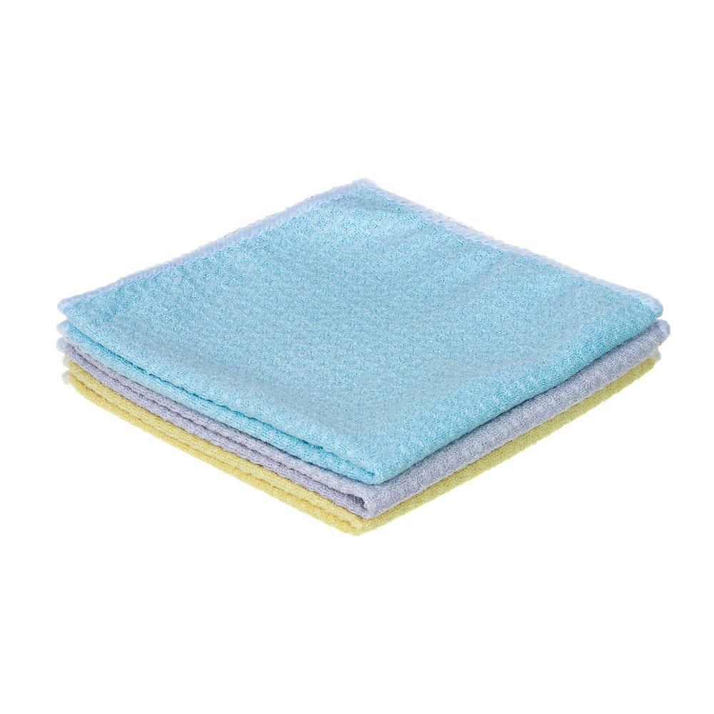 Салфетка вафельная из микрофибры, махровая, 30х30 см, 300г/кв.м, 3 цвета, VETTA