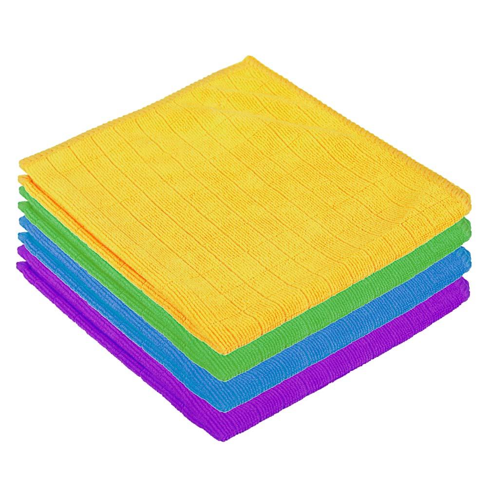Салфетка в клетку из микрофибры, универсальная, 30х30 см, 220 г/кв.м, 4 цвета, VETTA