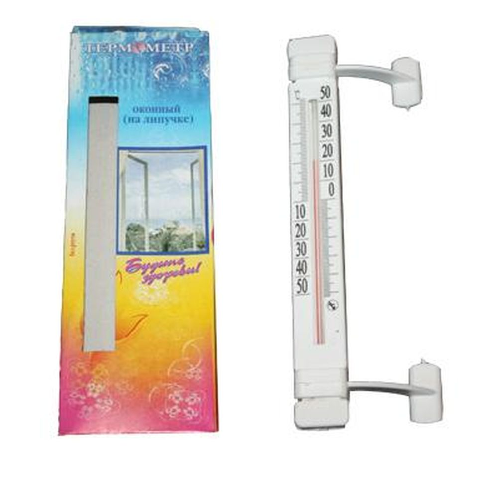 Термометр оконный Липучка (-50 +50) ТБ223 картон. коробка