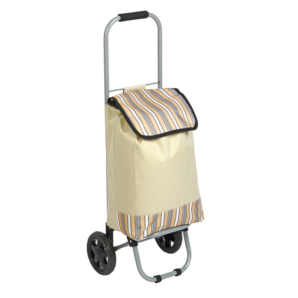 Тележка + сумка, грузоподъемность до 15кг, брезент, ЭВА, 32х22х86см, колесо d15см, HT-196-A