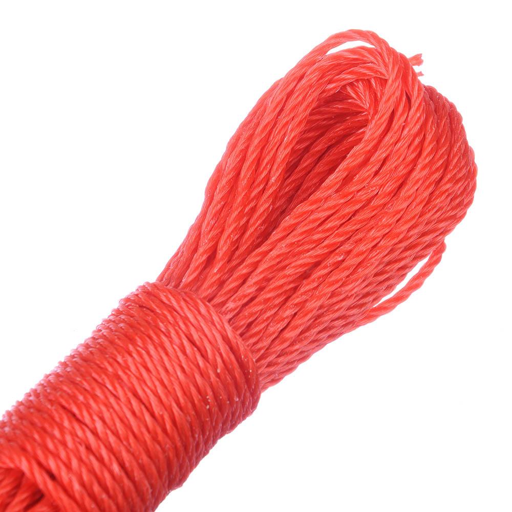 Веревка капроновая, 20м x 3мм, 5 цветов
