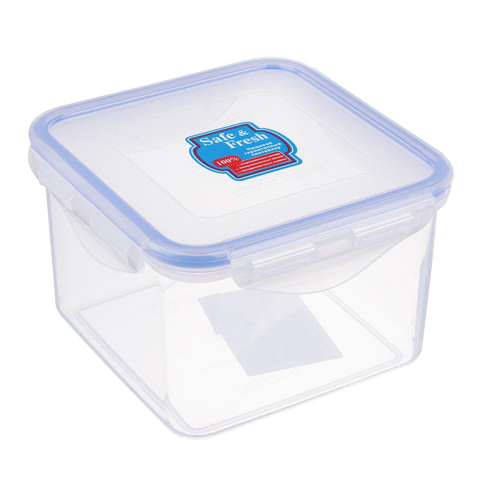 ТЕК Контейнер пищевой с защелками 860мл. 13,4х13,4х8,8см. SF1-2 К48