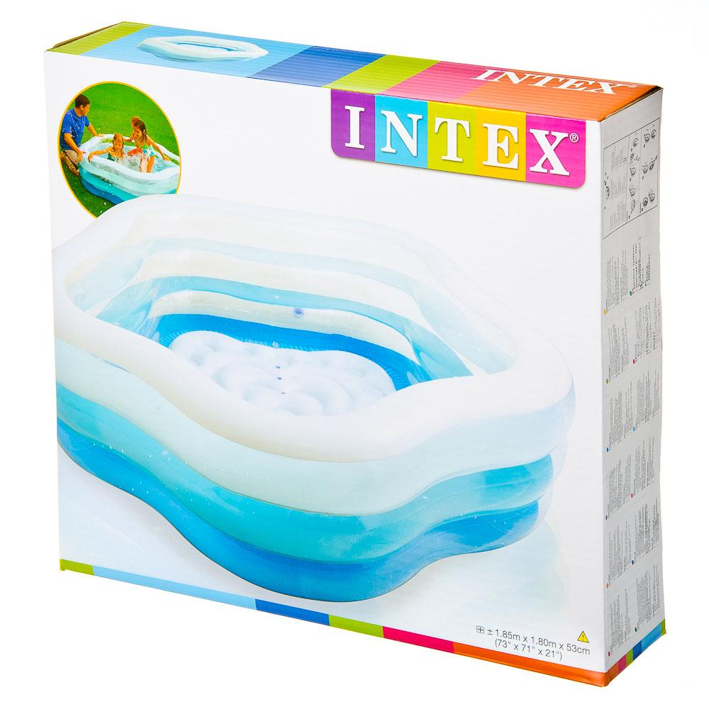 Надувной бассейн для детей INTEX 56495  Цвета лета 185x180x53 см, от 3 лет