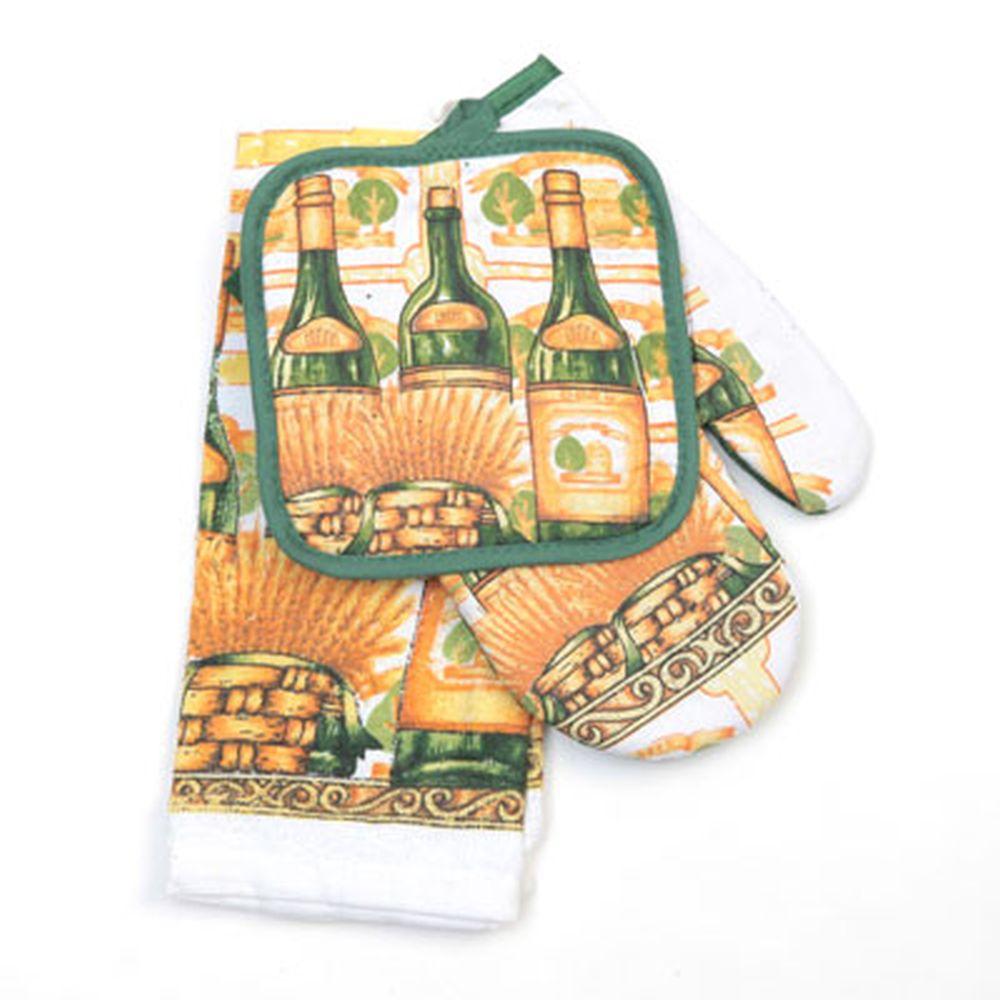 Набор кухонный 3 пр. (полотенце+варежка+прихватка) арт. 0686-4