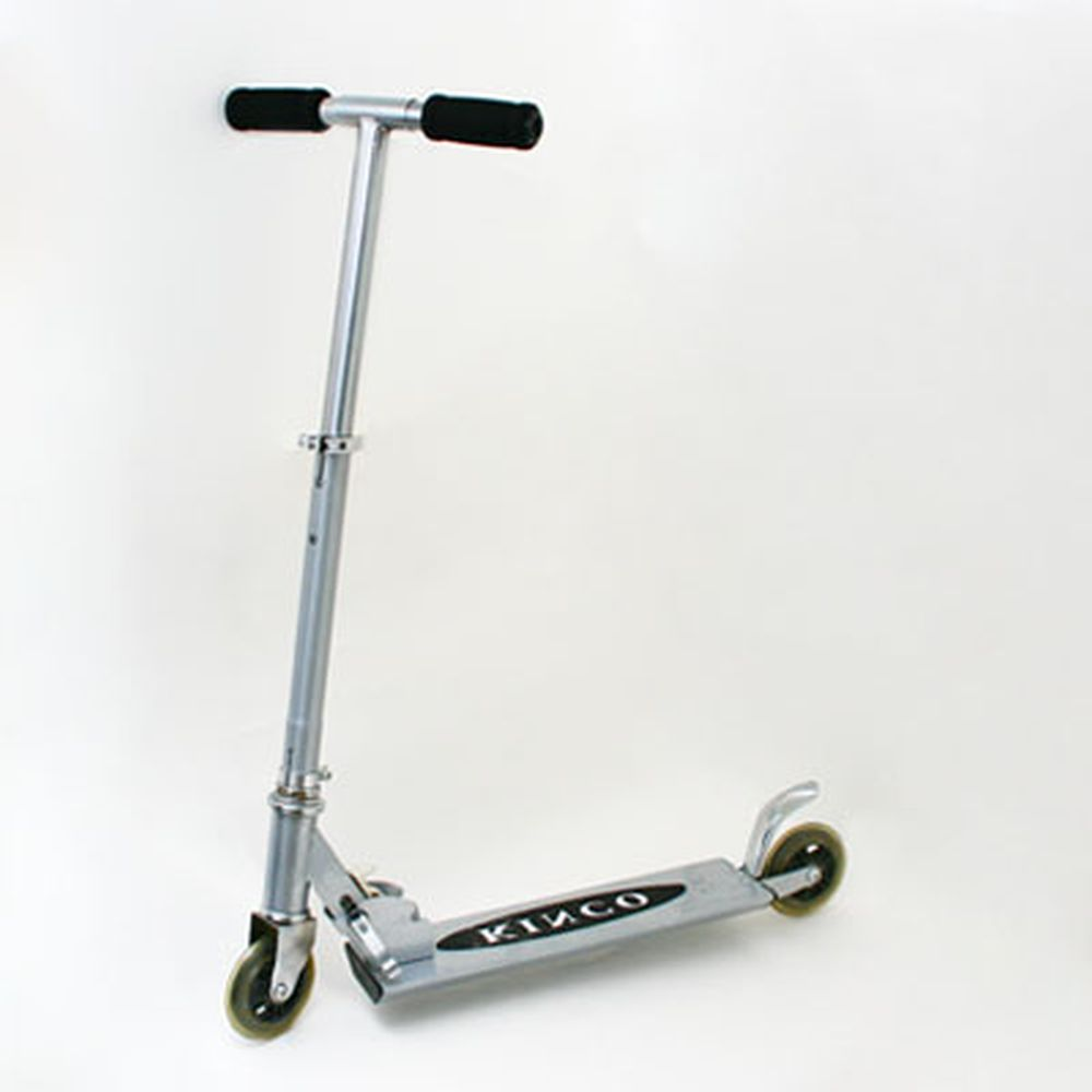 Самокат KINCO JL-2001BS, алюм 100%, колеса PU 98мм, серебристый