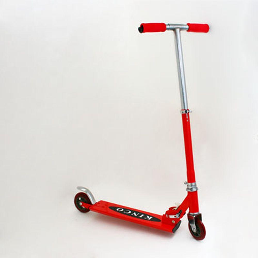 Самокат KINCO JL-2013, железо 100%, колеса PVC 96мм, красный
