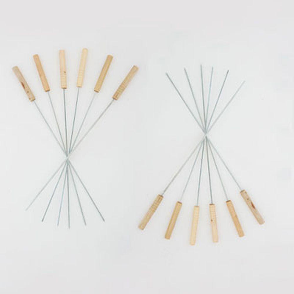 Набор шампуров 12шт, 46см, деревянная ручка, CF-4653