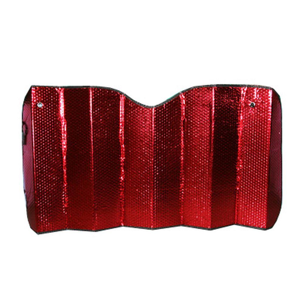 NEW GALAXY Шторка на лобовое стекло 130х75см красная/серебро 003
