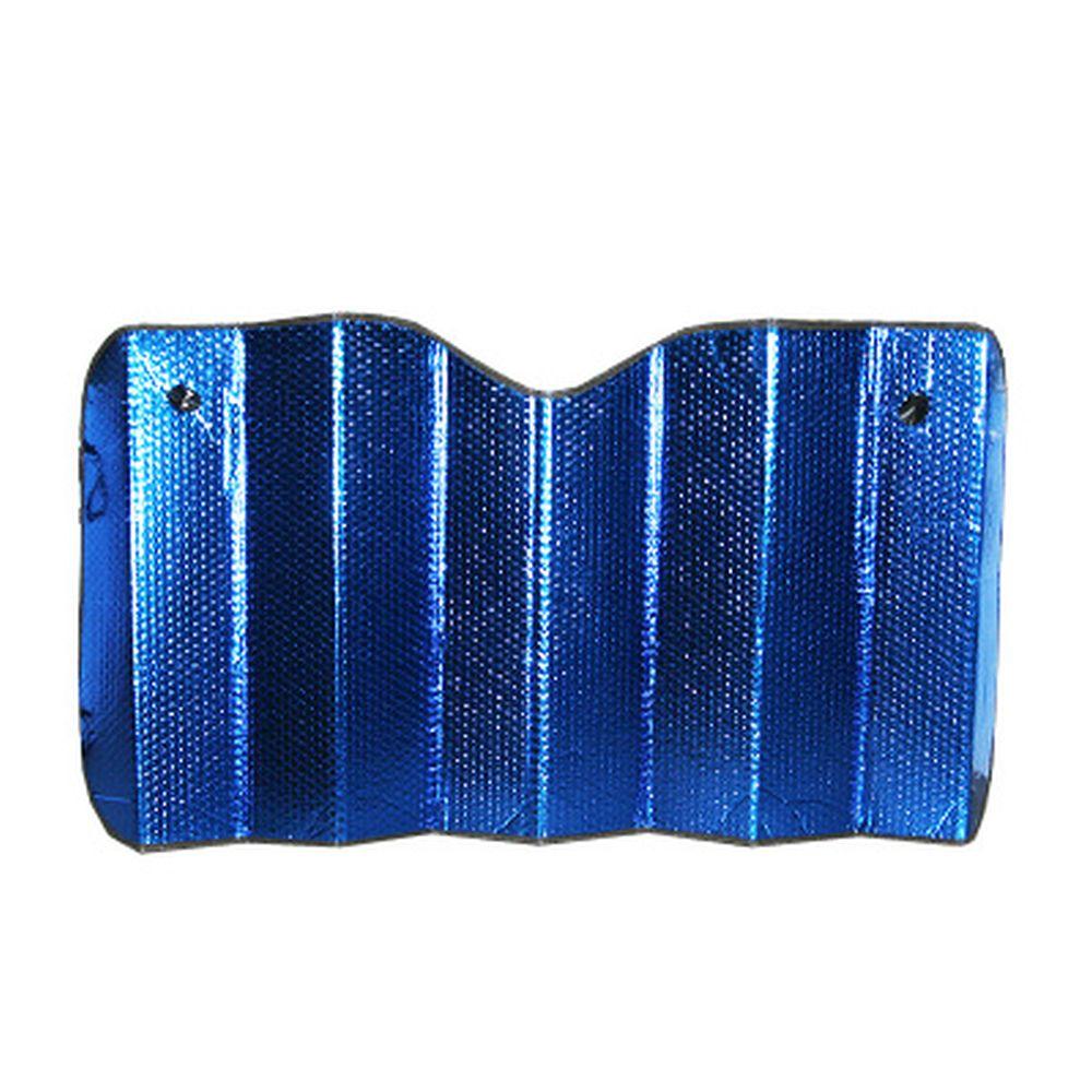 NEW GALAXY Шторка на лобовое стекло 130х75см синяя/серебро 004
