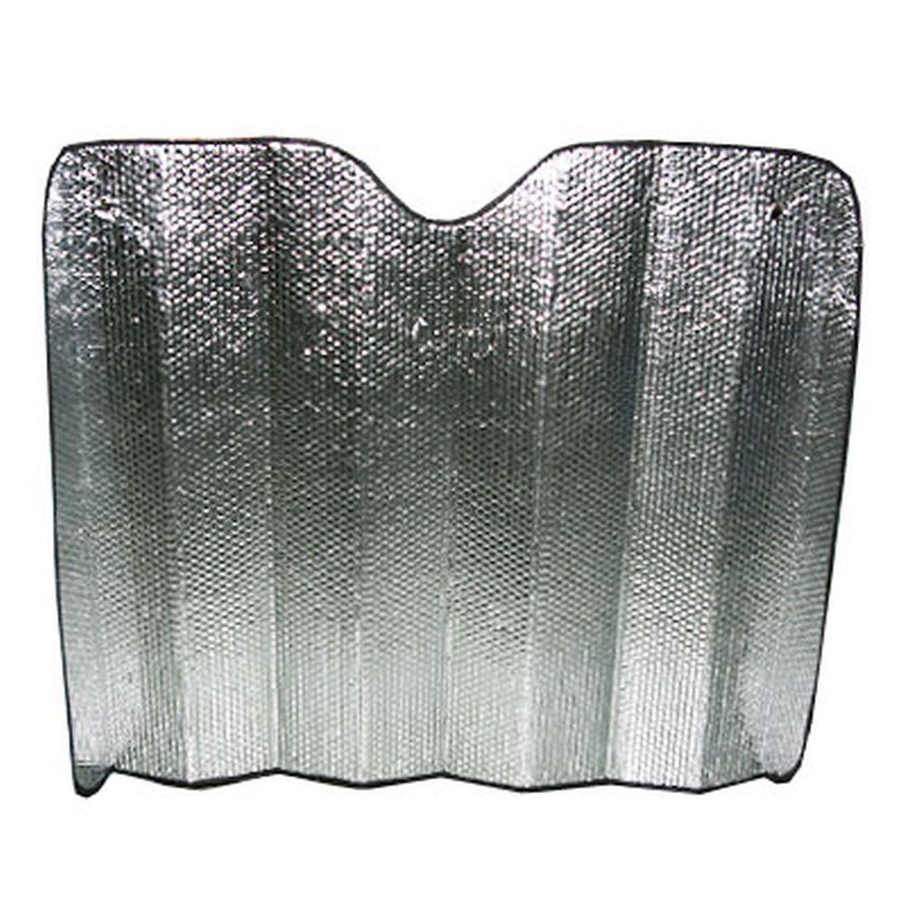 NEW GALAXY Шторка солнцезащитная на лобовое стекло, 130х90см, серебристая 119
