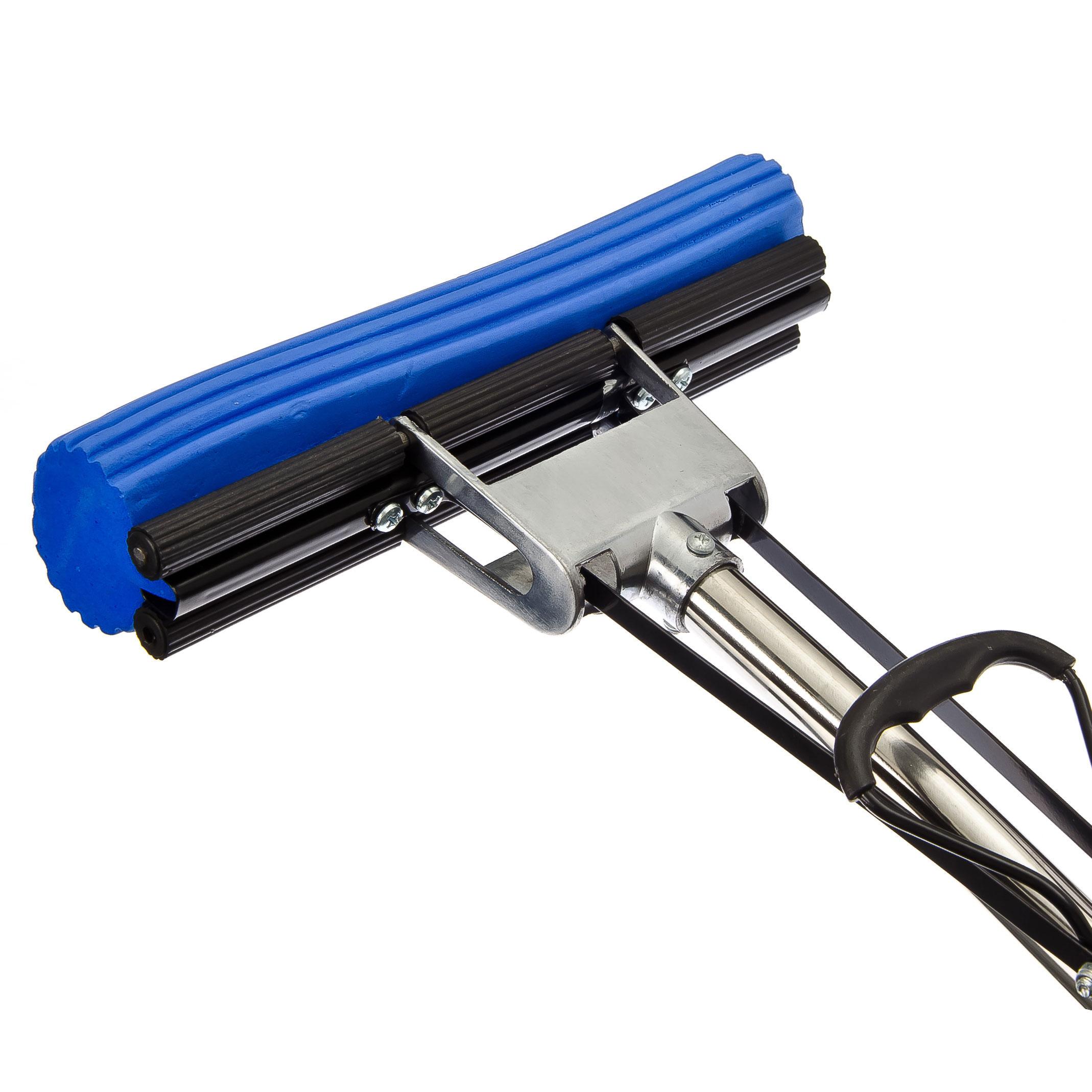 VETTA Швабра ПВА с изогнутой ручкой 110см, один ряд роликов, арт. J010