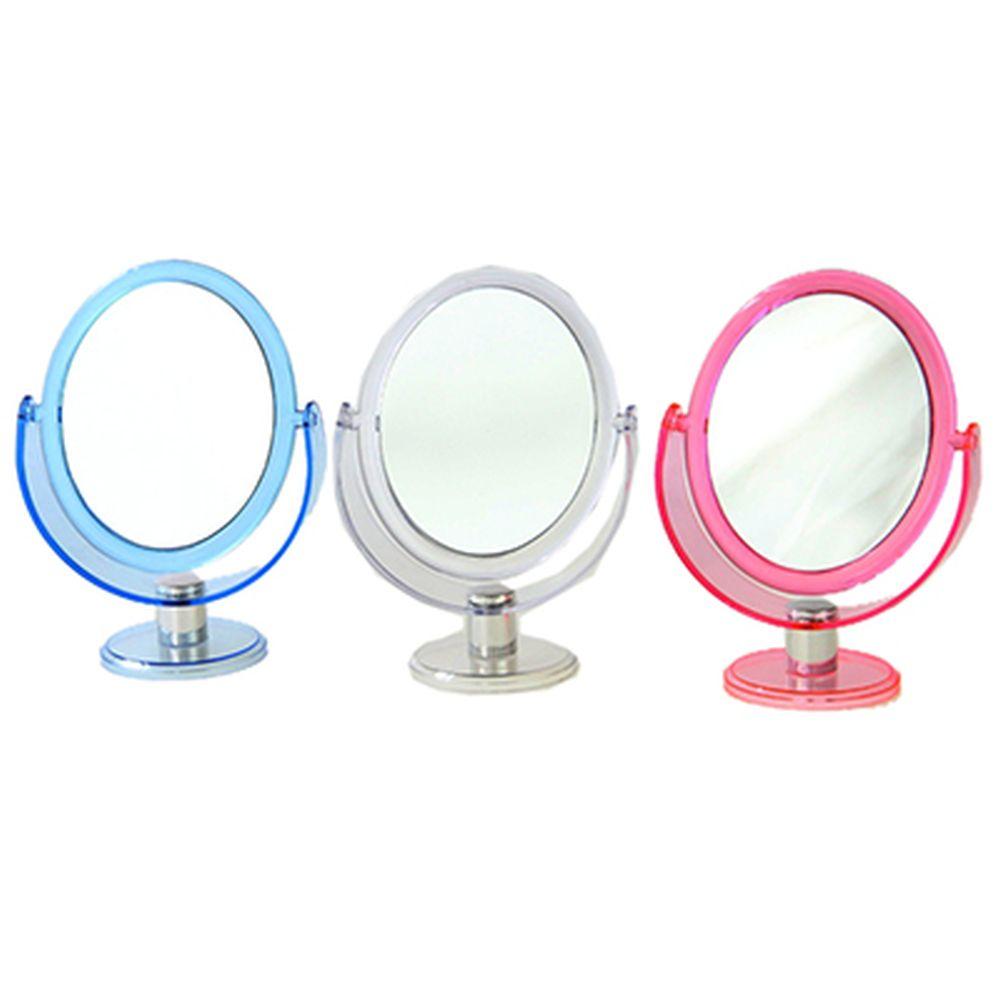 Зеркало настольное овальное, пластик, d. 22 см, 3 цвета