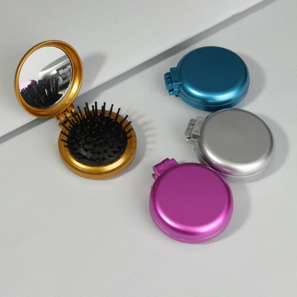 """Расческа складная с зеркалом ЮниLook """"Дорожная"""", 6,5 см, 4 цвета"""