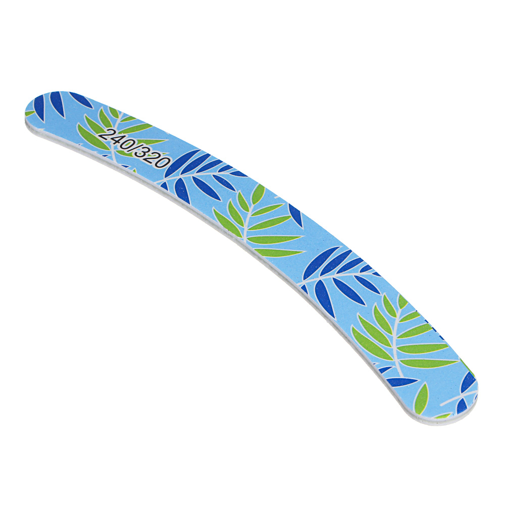 Пилка для ногтей полировочная 2-х сторонняя ЮниLook, 240/320 грит, 17,8 см, 6 цветов