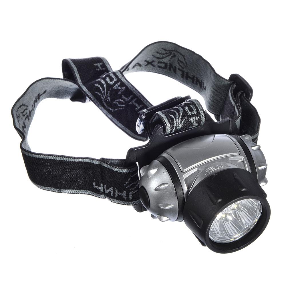 ЧИНГИСХАН Фонарь налобный 7 ярк. LED, 3xAAA, 6,5x4,3 см