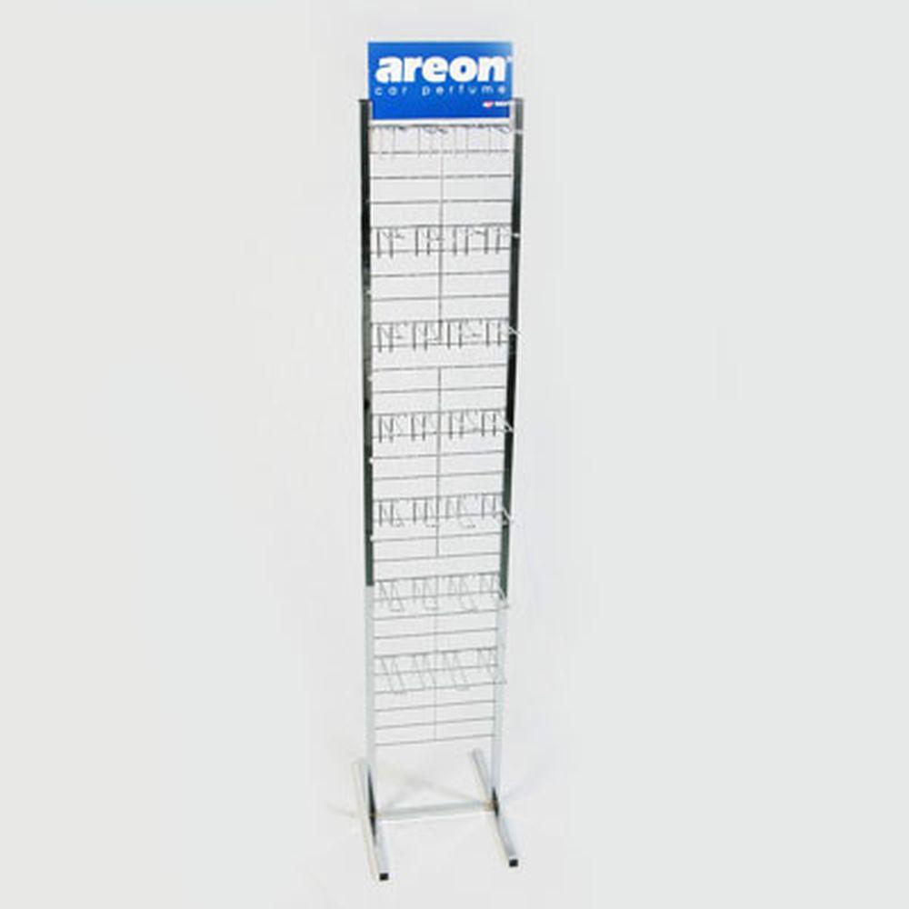AREON Стенд металлический 16 крюков, 32x95cм