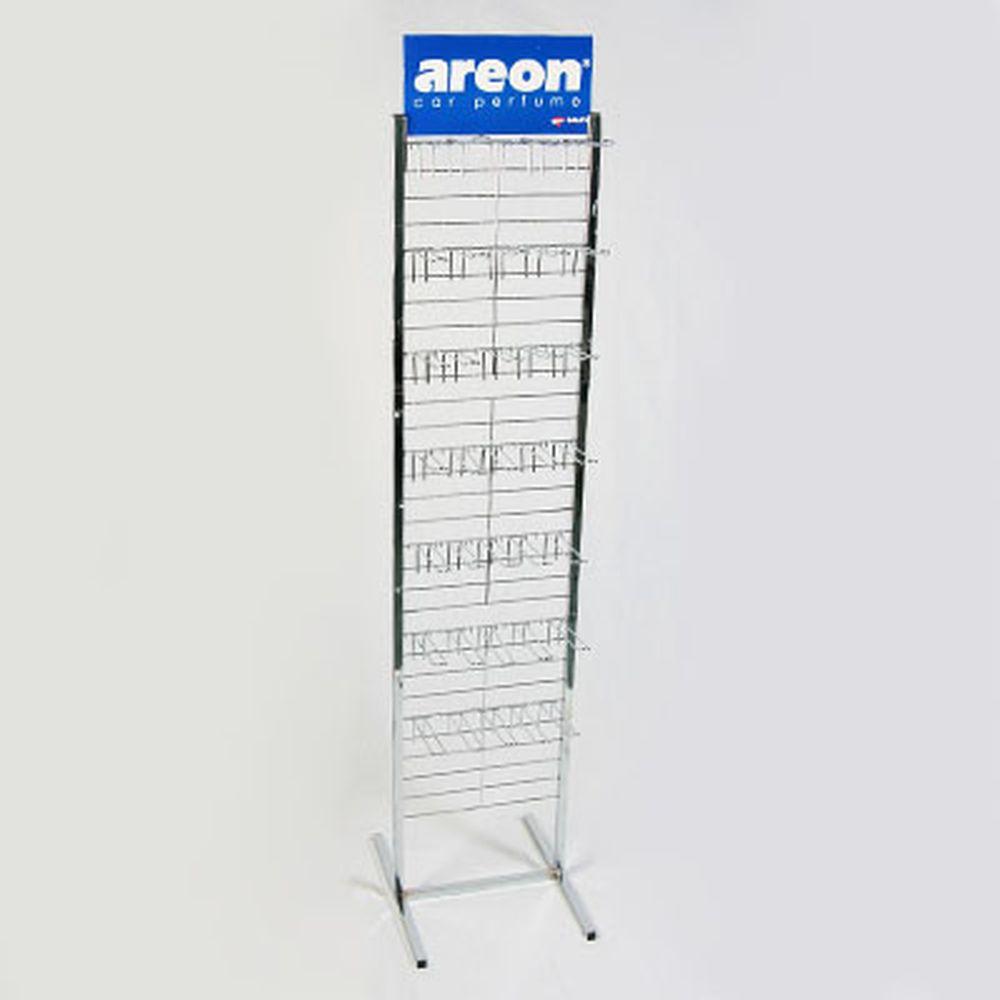 AREON Стенд металлический 28 крюков, 33x180cм