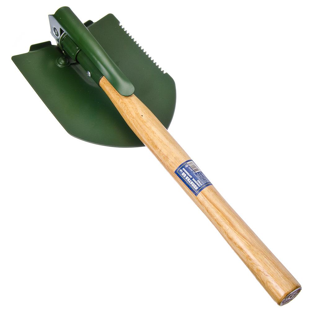 Лопатка складная 60см, дерев. ручка