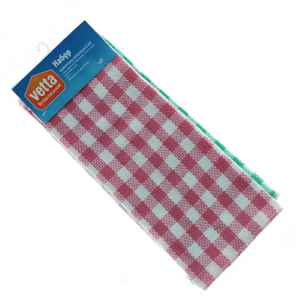 VETTA Набор полотенец кухонных 6 шт, 100% хлопок, 33x35см, QF012
