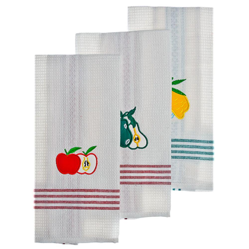 VETTA Набор полотенец кухонных 3 шт, 100% хлопок, 45x70см, QF077
