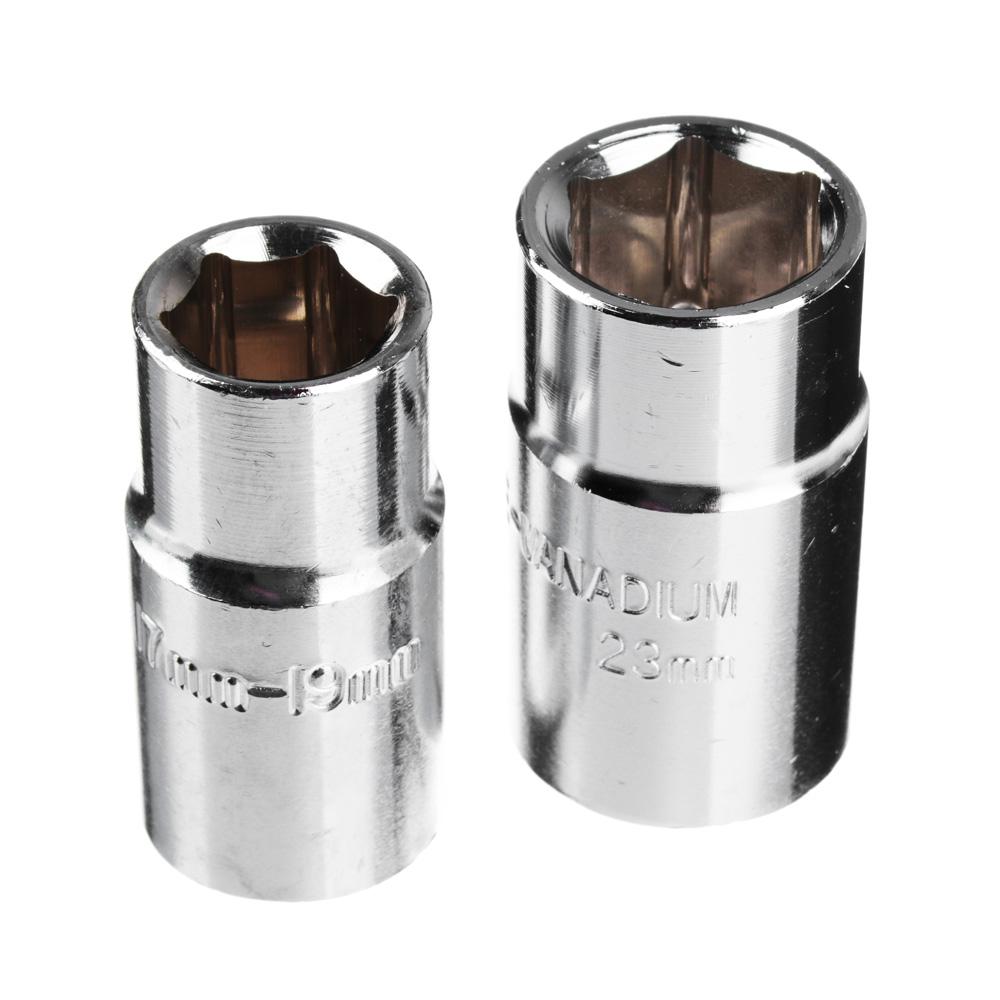 ЕРМАК Ключ баллонный телескопический со сменными головками 17/19, 21/23мм