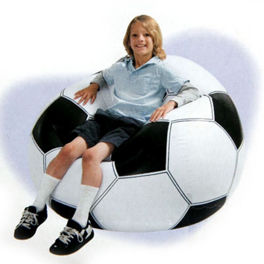 INTEX Кресло надувное Футбольное, 108x110x66см, до 100кг, 68557
