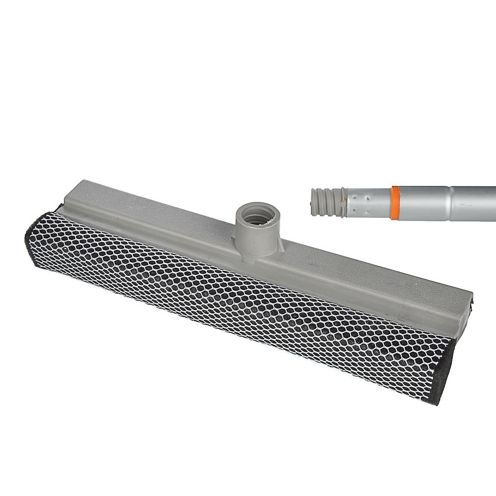 VETTA Окномойка с телескопической ручкой 111см, с резин.держателем, серая, арт.KFC010