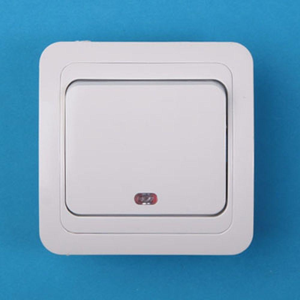Выключатель одноклавишный, основание керамика, 10А 250В Classic 2121 PowerMan