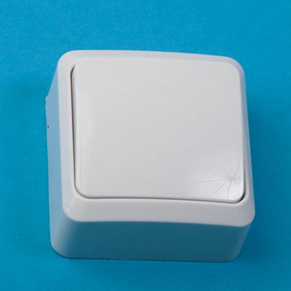 Выключатель одноклавишный, основание пластик, 10А 250В Fazenda 7021 PowerMan