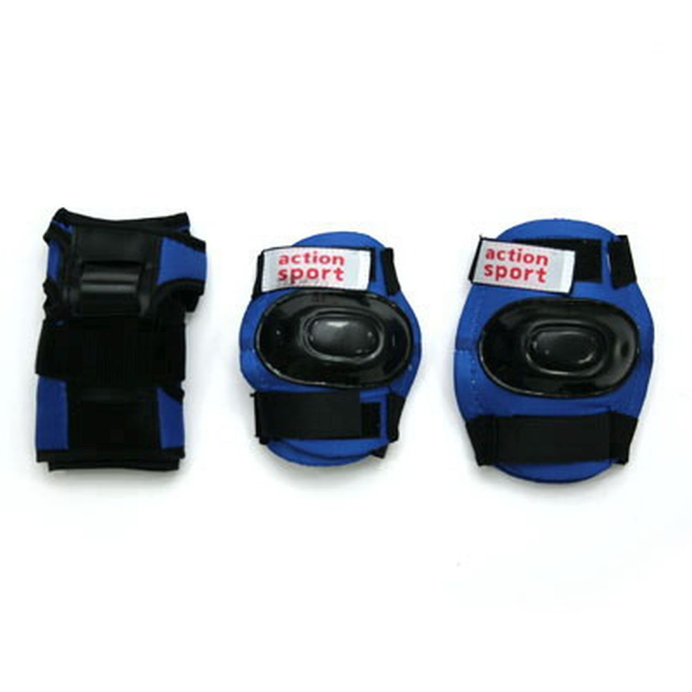 Action Набор защиты дет. (колени, локти, запястья) р.М, PW-308, черно-синий