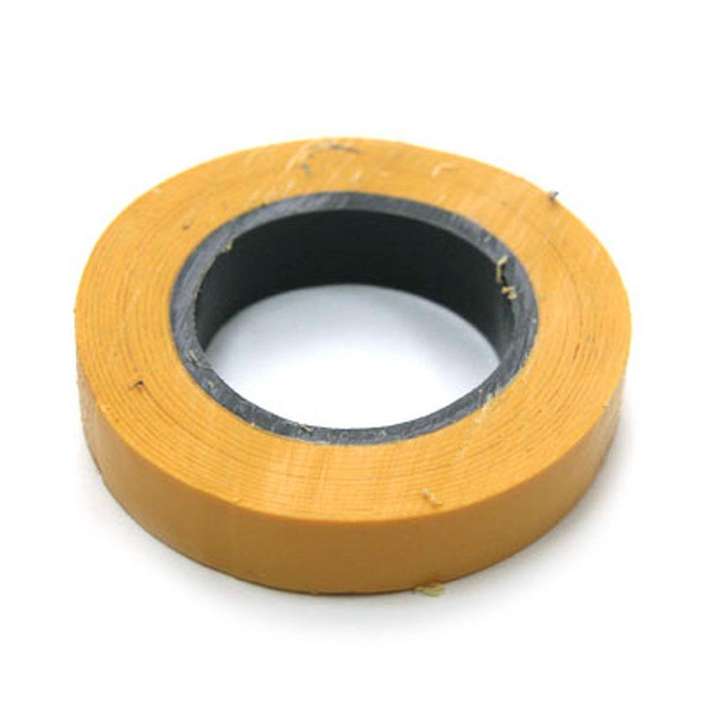 Изолента, ПВХ, в/с, желтая, шир. 15+-2 мм, 7,5 м, толщ 0,2 мм, ЕРМАК