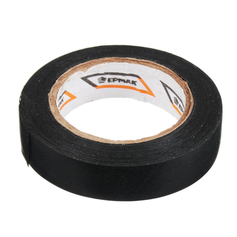 Изолента, ПВХ, в/с, черная, шир. 15+-2 мм, 7,5 м, толщ 0,2 мм, ЕРМАК
