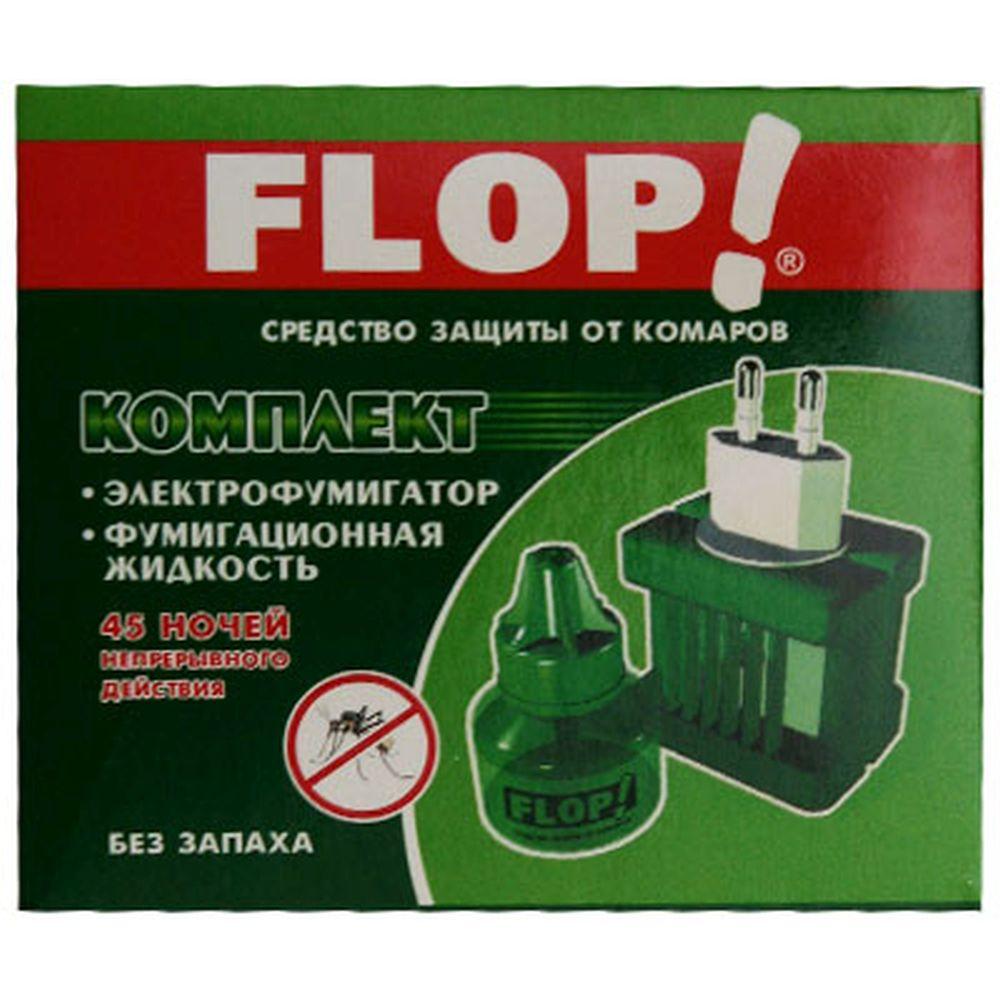 FLOP Комплект эл.фумигатор универ.+жидкость 45 ночей (арт.402-049)