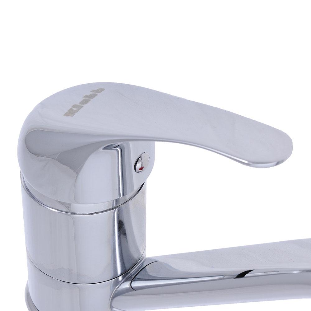 Смеситель для кухни, короткий излив, керамический картридж 40 мм, хром, без подводки, Klabb 05 265
