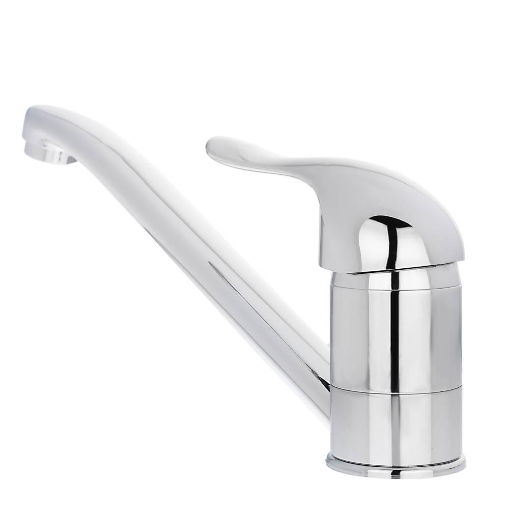 Смеситель для кухни, короткий излив, керамический картридж 40 мм, хром, без подводки, Klabb 05 270