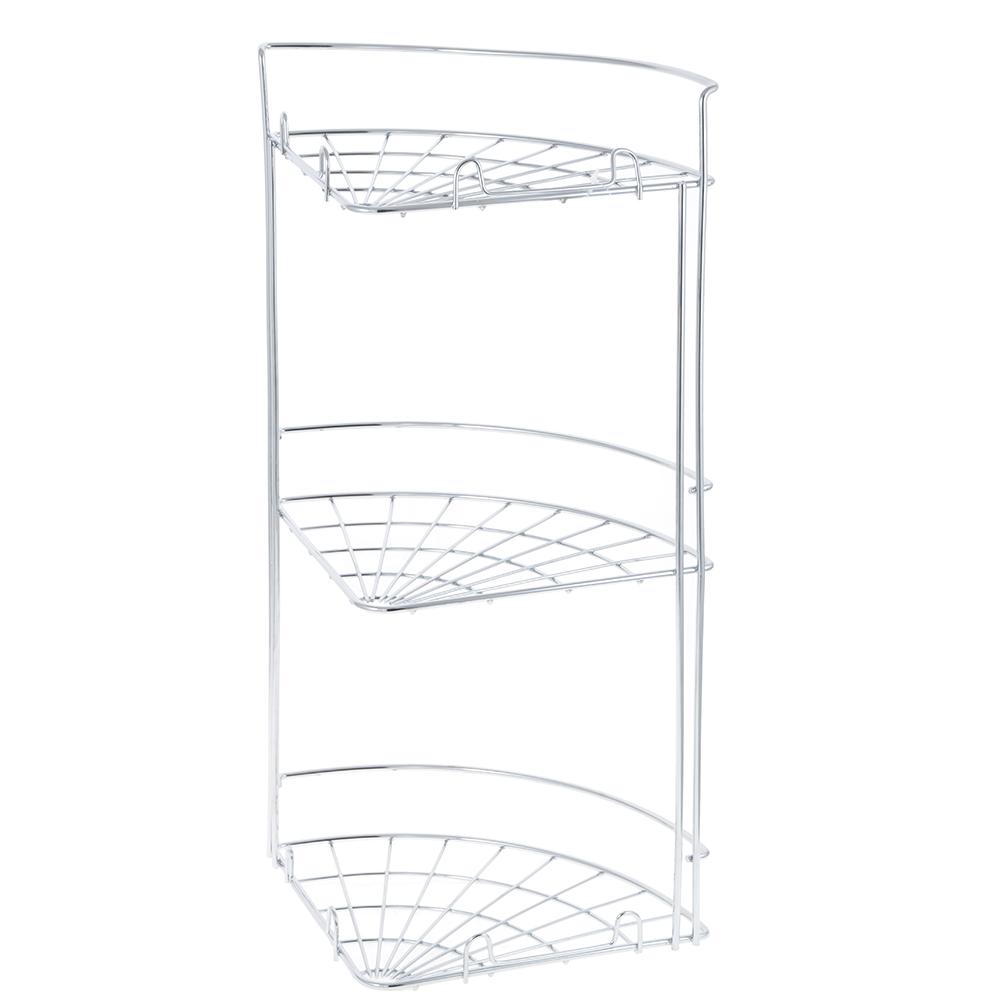Полка настенная, угловая, трёхъярусная, ARTEX Slim, арт.27.10.39