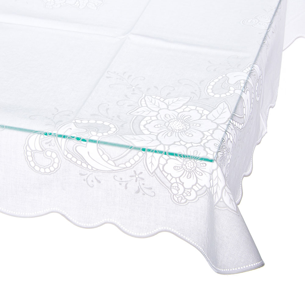 Скатерть на стол ажурная, пвх, 110x140см, VETTA