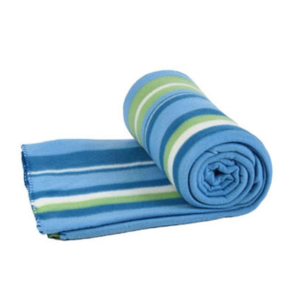 VETTA Плед полиэстер 180x200см, дизайн полоска голубой РВ180-4