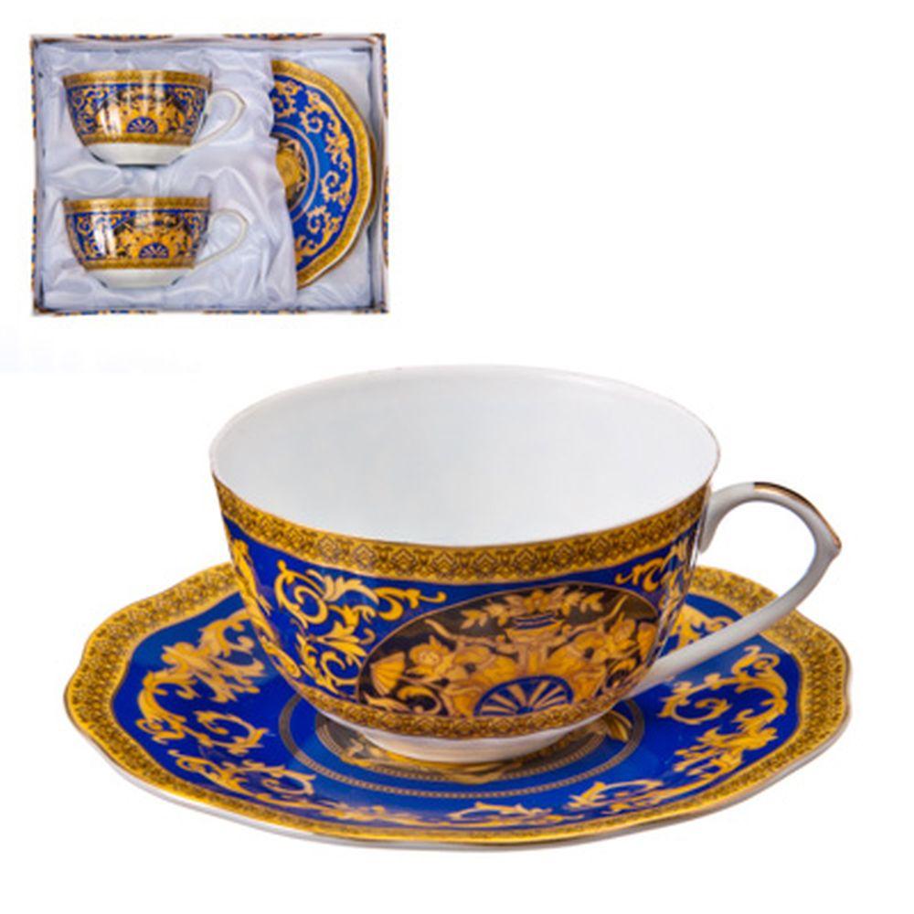 """Набор чайный 4 пр., 270мл, тнк. фрф, подар.уп, """"Греческие мотивы"""", AY-532.1"""