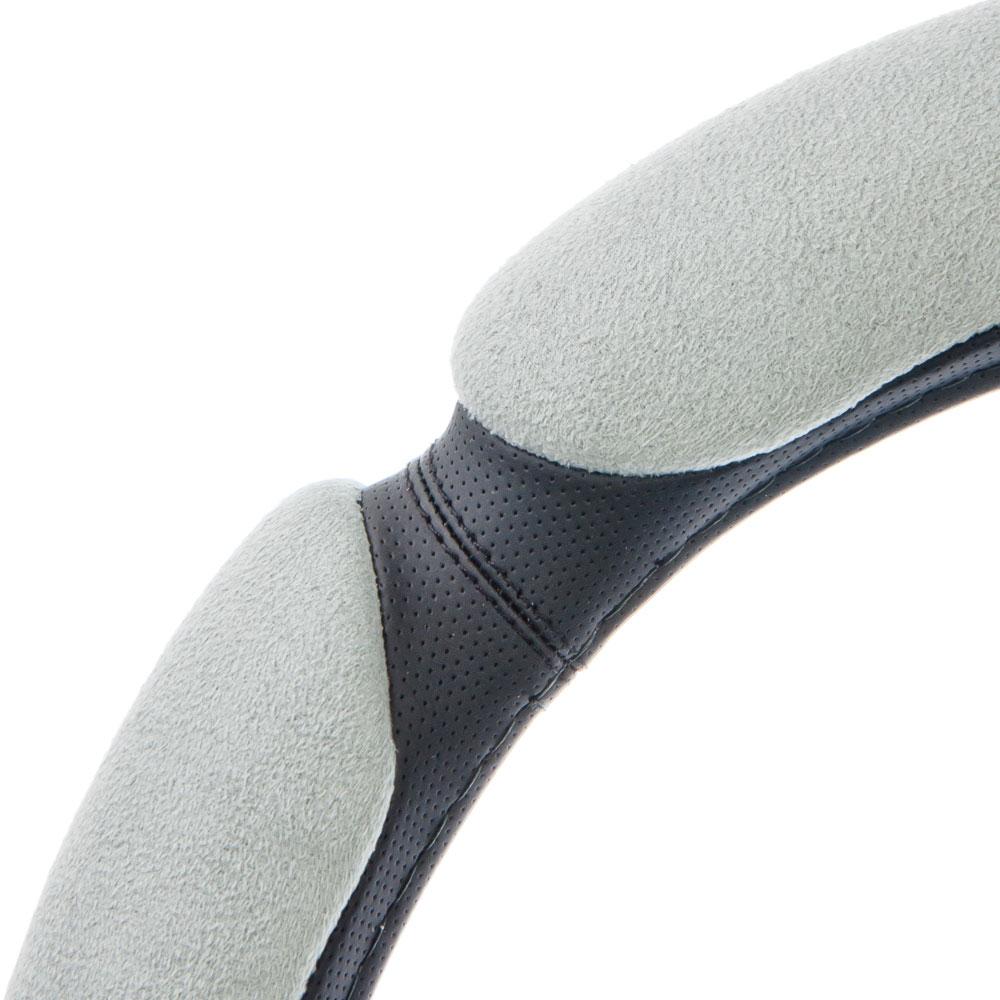NEW GALAXY Оплетка руля, спонж, 5 подушек, серый, разм. (М)