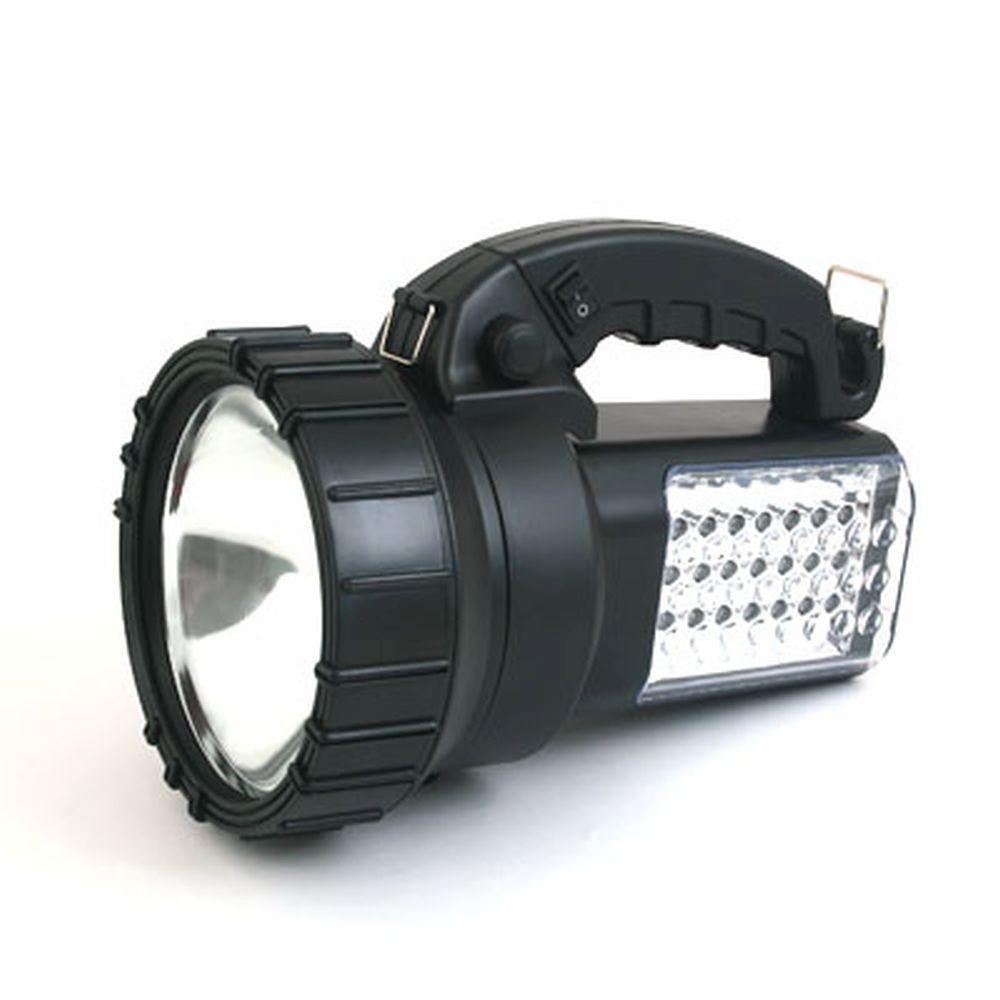 NEW GALAXY Фонарь аккумуляторный галогенный + боковые светодиоды (24шт), 02.70.010