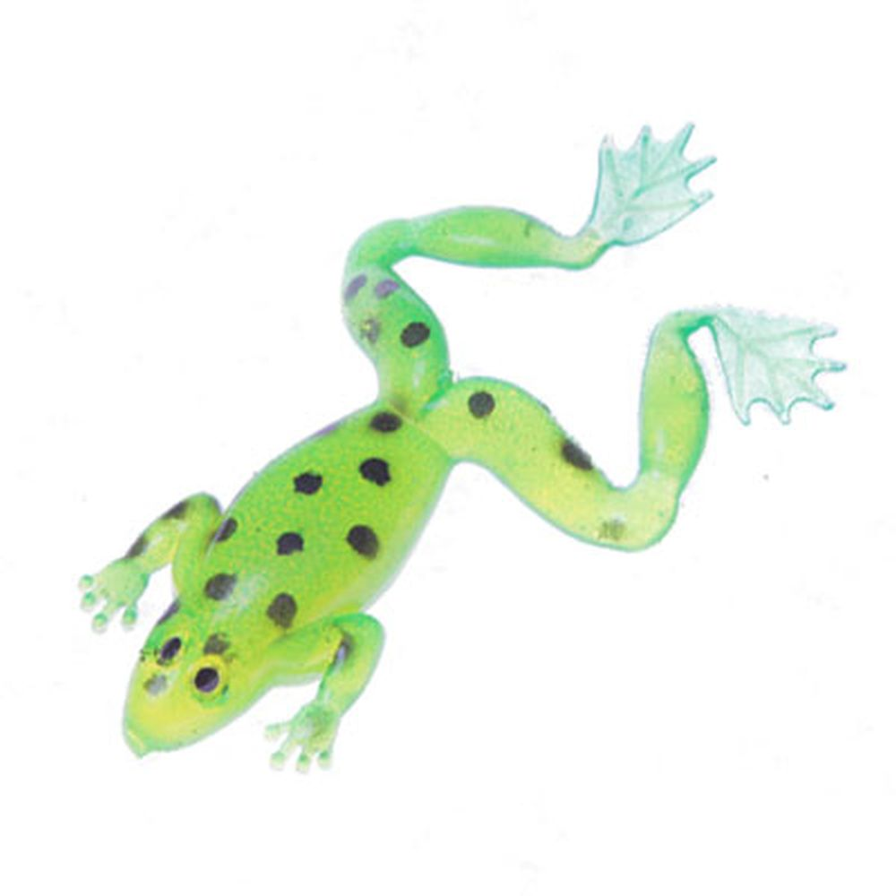 AZOR Мягкая приманка лягушка CH-D016-2-03, 73мм, 11гр, 5шт в уп, ярко-зелёная