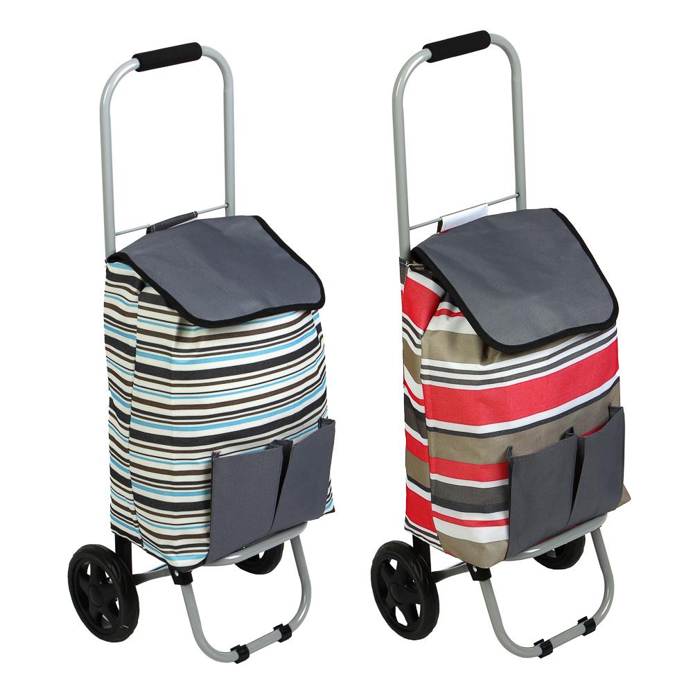 Тележка + сумка, грузоподъемность до 30кг, брезент, ЭВА, 36х26х86см, колесо d15см, WQ-162