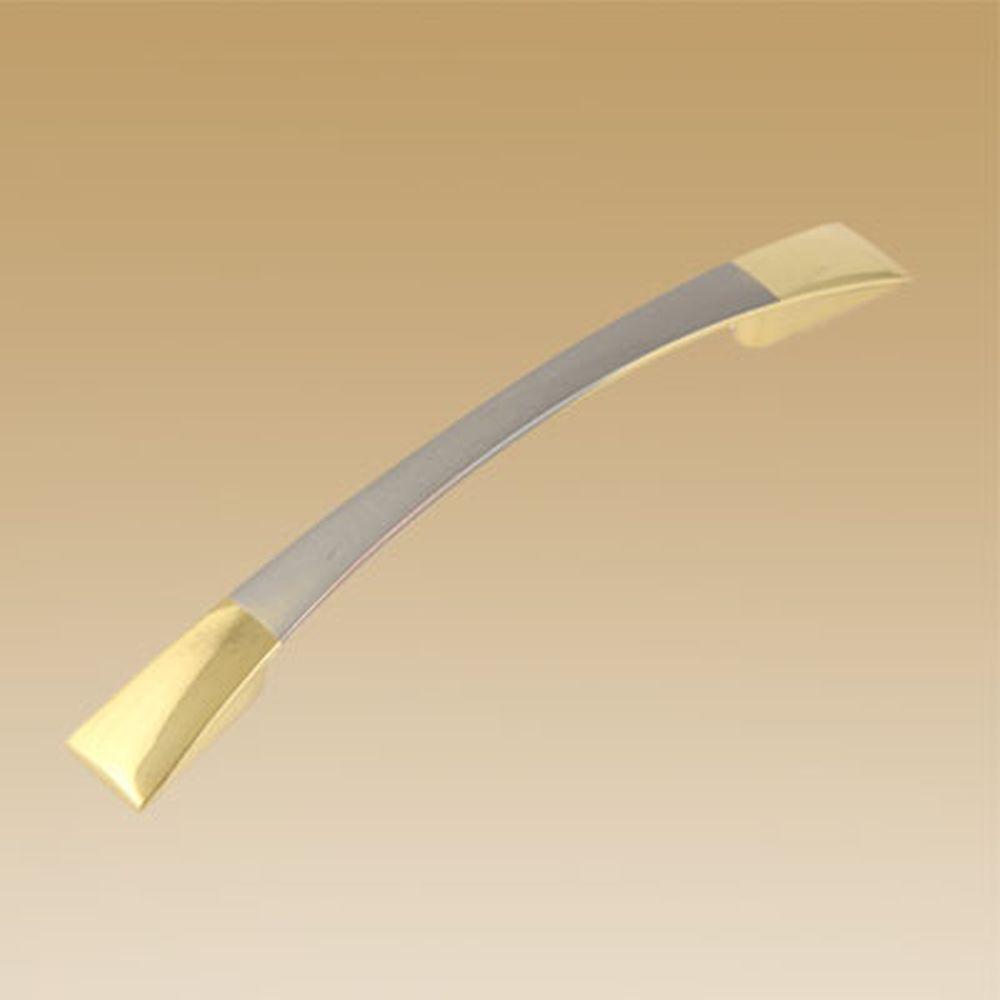 Ручка мебельная 2058-96 мат. хром / золото