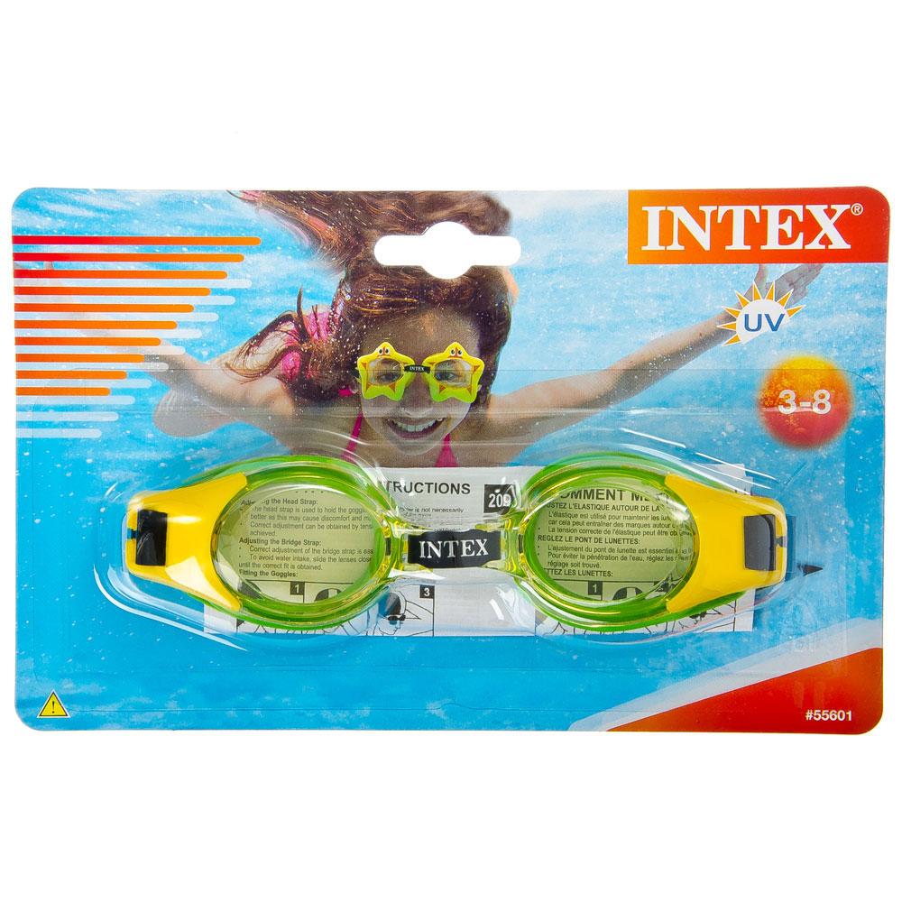 """Очки для плавания, возраст от 3 до 8 лет, 3 цвета, INTEX """"JUNIOR"""", 55601"""