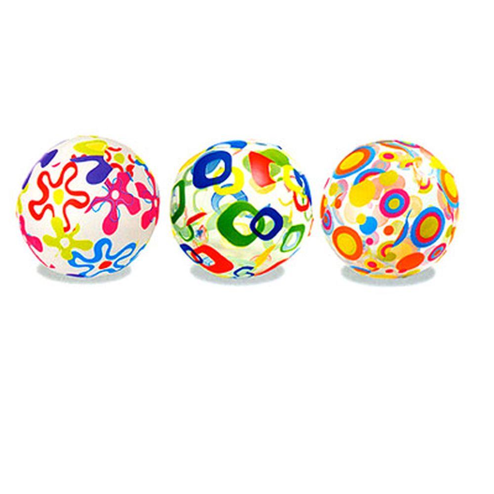 INTEX Мяч пляжный 61см, с ярким рисунком, 3 вида, 59050