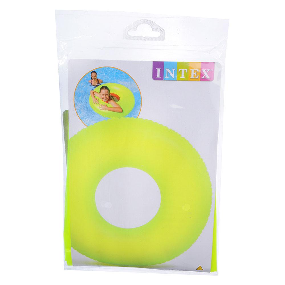 Надувной круг INTEX 59262 Неоновый холод d. 91 см 3 цвета, от 9 лет