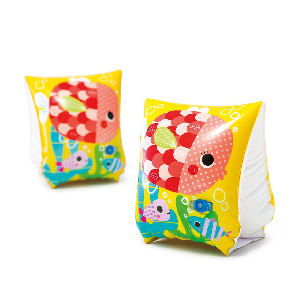 Нарукавники, 23х15 см, возраст от 3 до 6 лет, INTEX Забавные рыбки, 58652