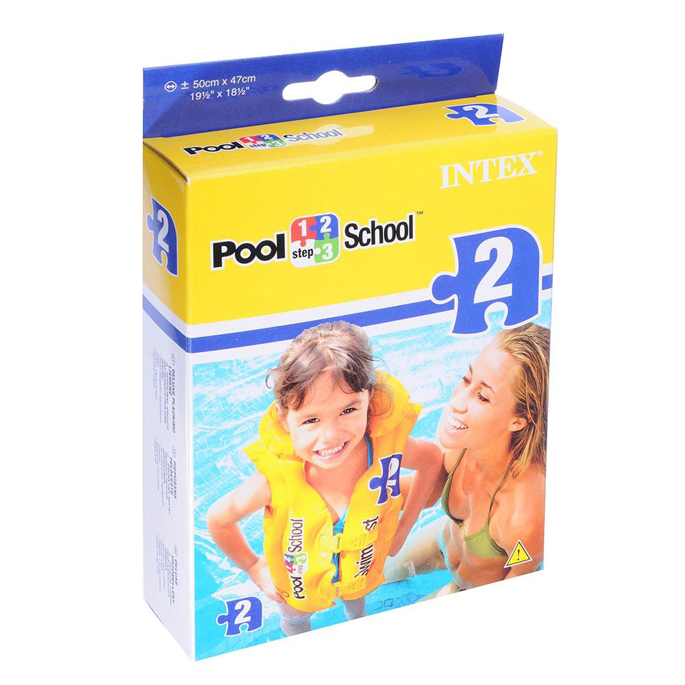 Жилет надувной для обучения плаванию, возраст от 3 до 6 лет, INTEX Delux, 58660